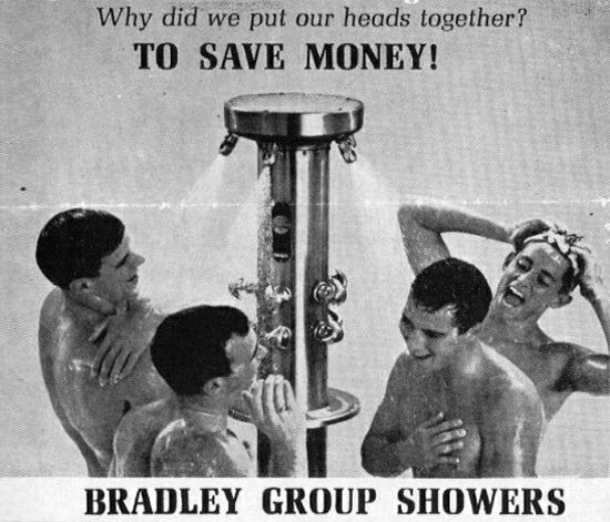 Group gay shower