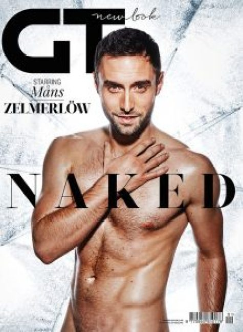 Måns Zelmerlöw naked on the cover of GT magazine after winning the 2015 Eurovision