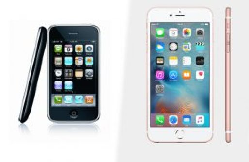the 2009 iPhone left vs the iPhone 6s showing that a lot can change in five years, like it might have in Maynooth