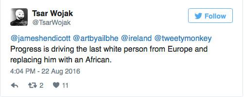 insane racism