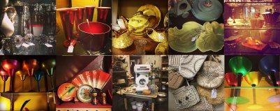 A multitude of objects in a college that you could buy at the national antiques art and vintage fair