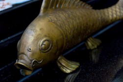 A metallic fish artefact from Yamamori Sushi, who's manager Graham Ryan we interviewed in this month's Amuse Bouche