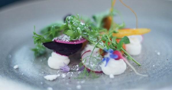 Close-up of a scrumptious looking salat at BANG restaurant