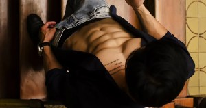A man's abs and jeans indicating that he may or may not use condoms the last time he had sex