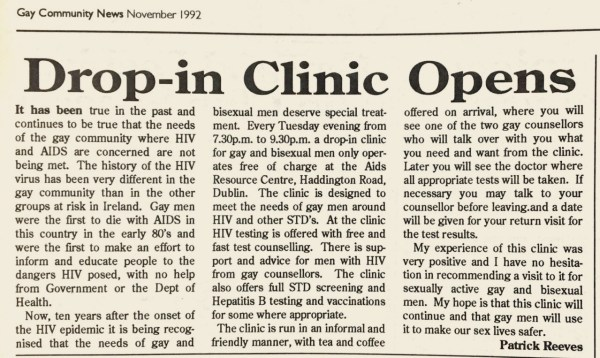 The original GMHS report from the November 1992 issue of GCN (Gay Community News)