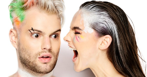 The two members of Sofi Tukker in a close-up