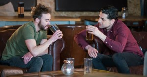 Photo of David and Josh whoa re the center of a same sex rape storyline in the soap