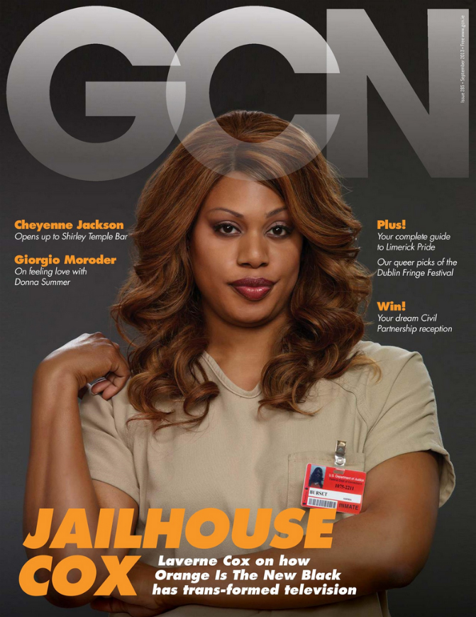 Laverne Cox on the cover of GCN 285