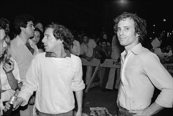 Ian Schrager and Steve Rubell outside Studio 54. Photographer: Allan Tannebaum