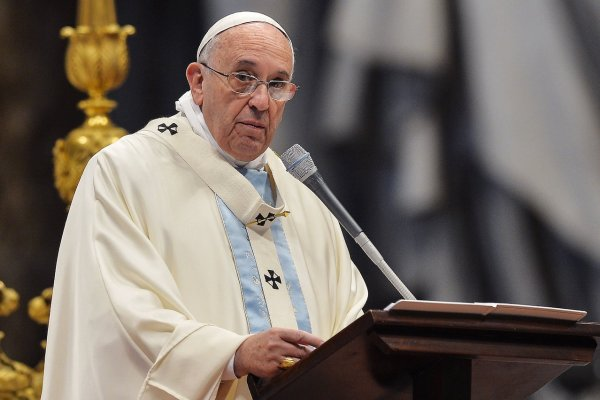 "Pope Francis said that families are ""of man and woman"" on Saturday."