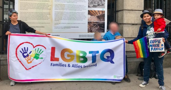 LGBT families protest outside the Dail