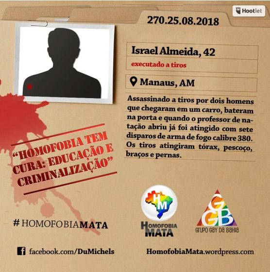 Murder in Brazil Gay Man Israel Almedia