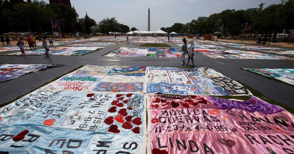 AIDS quilt to remember the epidemic