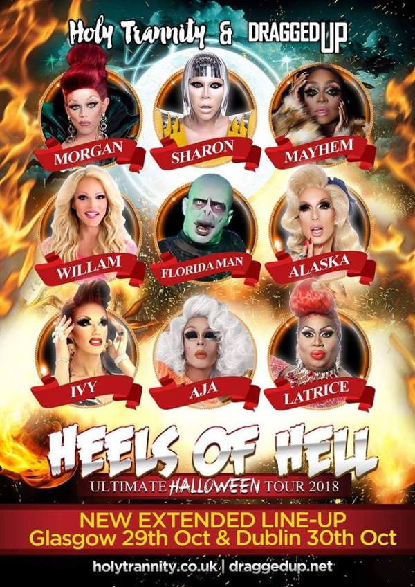 heels of hell tour poster