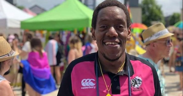 Kenneth Macharia, a member of the Bristol Bisons rugby team.