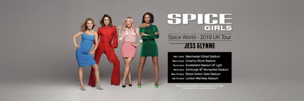 spice girls tour poster with all their 2019 dates