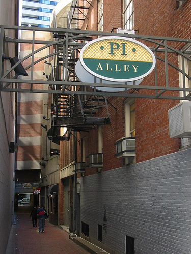 """Alley Bar, one of the gay bars in Boston a caller threatened to """"shoot up""""."""