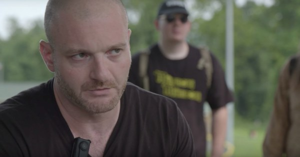 Close up of White supremacist Christopher Cantwell who published the Angry Goy game