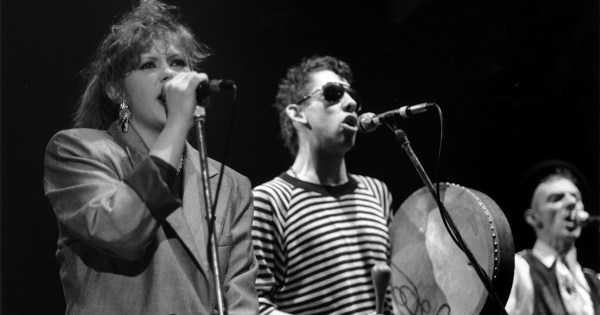 The Pogues and Kirsty McColl performing Fairytale Of New York live on stage