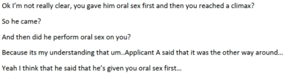 Questions that gay asylum seekers were asked by immigrations officers in Australia in 2012