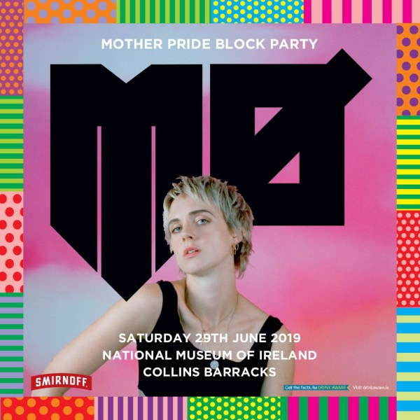 Poster with artist MØ who will be performing at Mother's Pride Block Party