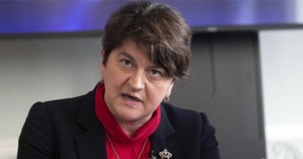 DUP leader arlene foster speaking after death of Lyra McKee