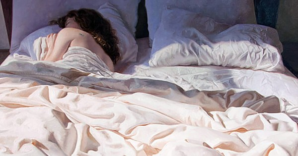 A woman asleep in bed - Obligatory Scene poster