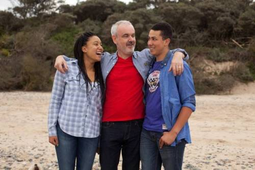 Colm O'Gorman and his children