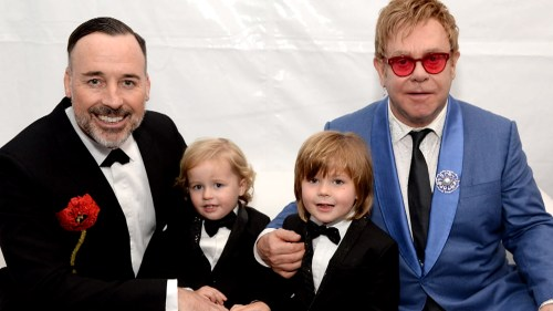 Elton John and his family
