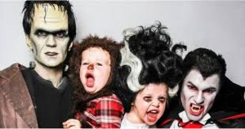 Neil Patrick Harris and his family dressed for Halloween