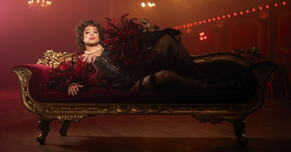 Duncan James as Frank-N-Furter in the Rocky Horror Show