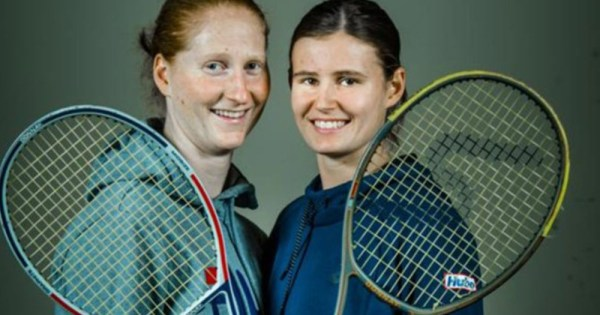 Same-sex couple Alison Van Uytvanck and Greet Minnen compete as doubles team at Wimbledon