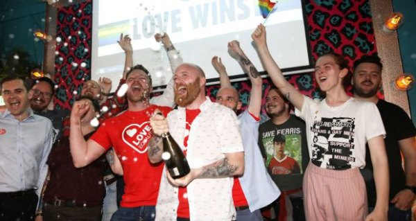 Campaigners celebrate Marriage Equality in Northern Ireland