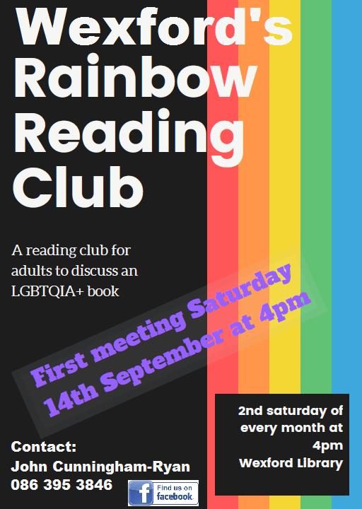 Wexford Library's Rainbow Reading Club poster with event information
