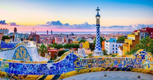 One of the top LGBT+ friendly destinations - a panoramic view of Barcelona from Park Güell