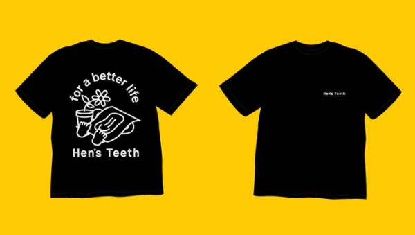Hen's Teeth limited edition t-shirt for funders