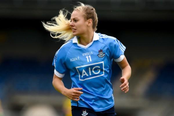 GAA star Nicole Owens running during a match