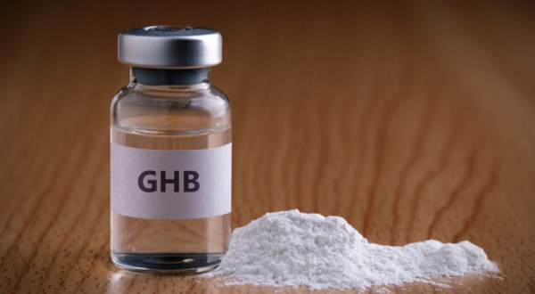 A bottle of liquid GHB and powder form, this article offers guidelines for risk reduction