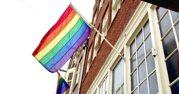 Pride flag outside a red brick building, Mayo is bursting with pride as it is ready to launch first LGBT+ drop-in centre