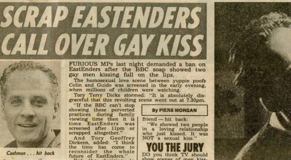 Eastender's kiss
