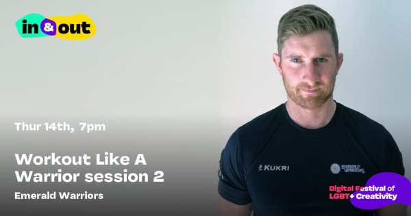 A serious looking bearded man in a rugby top stares straight into the camera