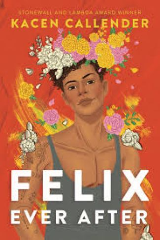 "Cover for ""Felix Ever After"", a boy in a flower crown"