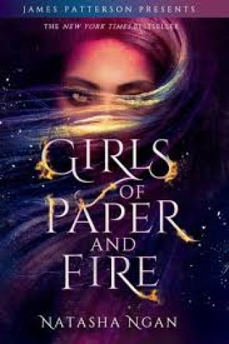 "Cover for ""Girls of Paper and Fire"", a girl mysteriously hidden behind her hair"