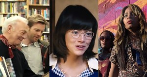 three different film scenes from some of the best LGBTQ+ movies