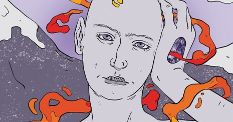 An illustration of a genderless alien creature, which featured on one of the uplifting news for Trans Day of Visibility 2021
