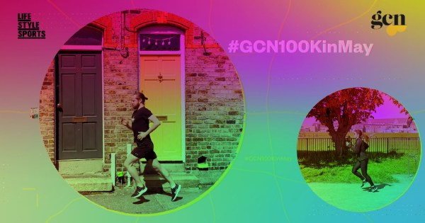 100k in May: still from promo video for GCN and Life Style Sports running challenge