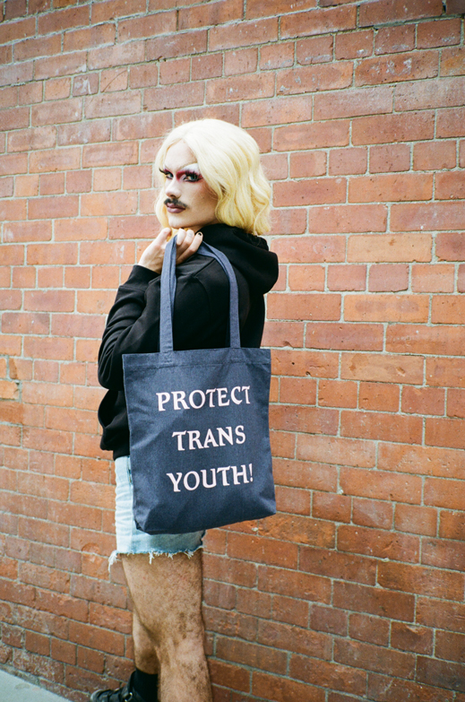 Protest Collection: Protect Trans Youth tote bag