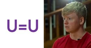 Split Screen of U=U image L and former UCD SU president Conor Andreson