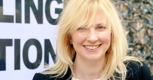 Close up of Rosie Duffield MP, Labour Party
