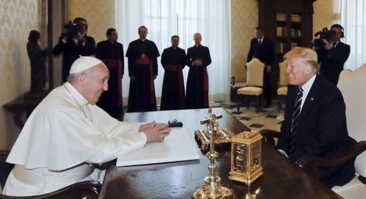 Συνάντηση Πάπα Φραγκίσκου με τον Ντόναλντ Τραμπ στο Βατικανό